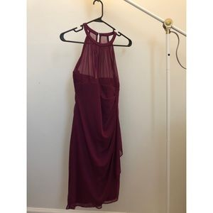 David's Bridal Bridesmaid Dress Sangria